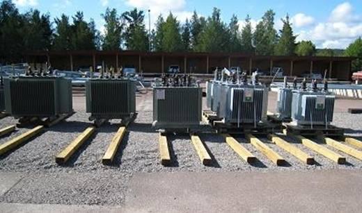Bilden visar en spillskyddad förvaringsplats vid Falu Energi Nät AB
