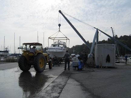 Båtklubb med marinfilter